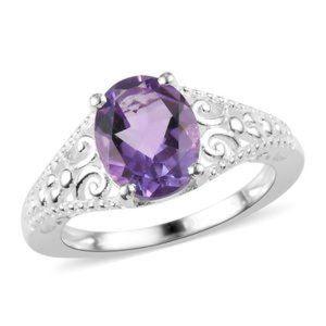 1.75ctw Bolivian Genuine Amethyst Ring sz7